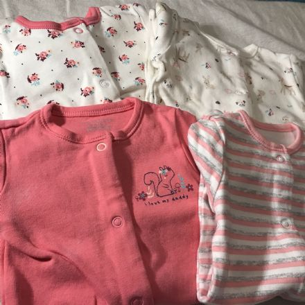 0-0 Newborn Set of 4 Pinks